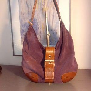Handbags - Michael Kors Eggplant Suede Hobo